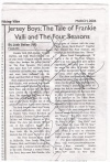 The article on Jersey Boys that I wrote for my school paper with John's, Daniel's, J. Rob's, and Christian's autographs on it.