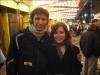Outside the Nederlander after Rent - Josh Kobak and I NY Dec. 16