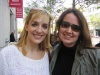 Julia Murney and I outside the 4/16 showing of 'Lennon' at San Francisco's Orpheum Theatre