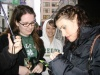 Idina and I in SF - she's signing autographs for us!