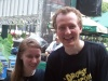 Bob Martin and me after Bway in Bryant Park. Don't I look like the Drowsy Chaperone? haha
