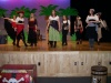 Pirate queen crew singing look-away in pirates life for me (Im in the bright red corsett doing the leg extention
