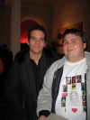 This is a photo of myself and See What I Wanna See star Aaron Lohr after the December 1 performance.