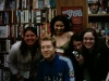 The girls with Anthony Rapp after his book signing