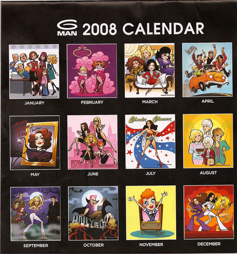 G MAN 2008 Calendar feat. our very own-Gay Icons