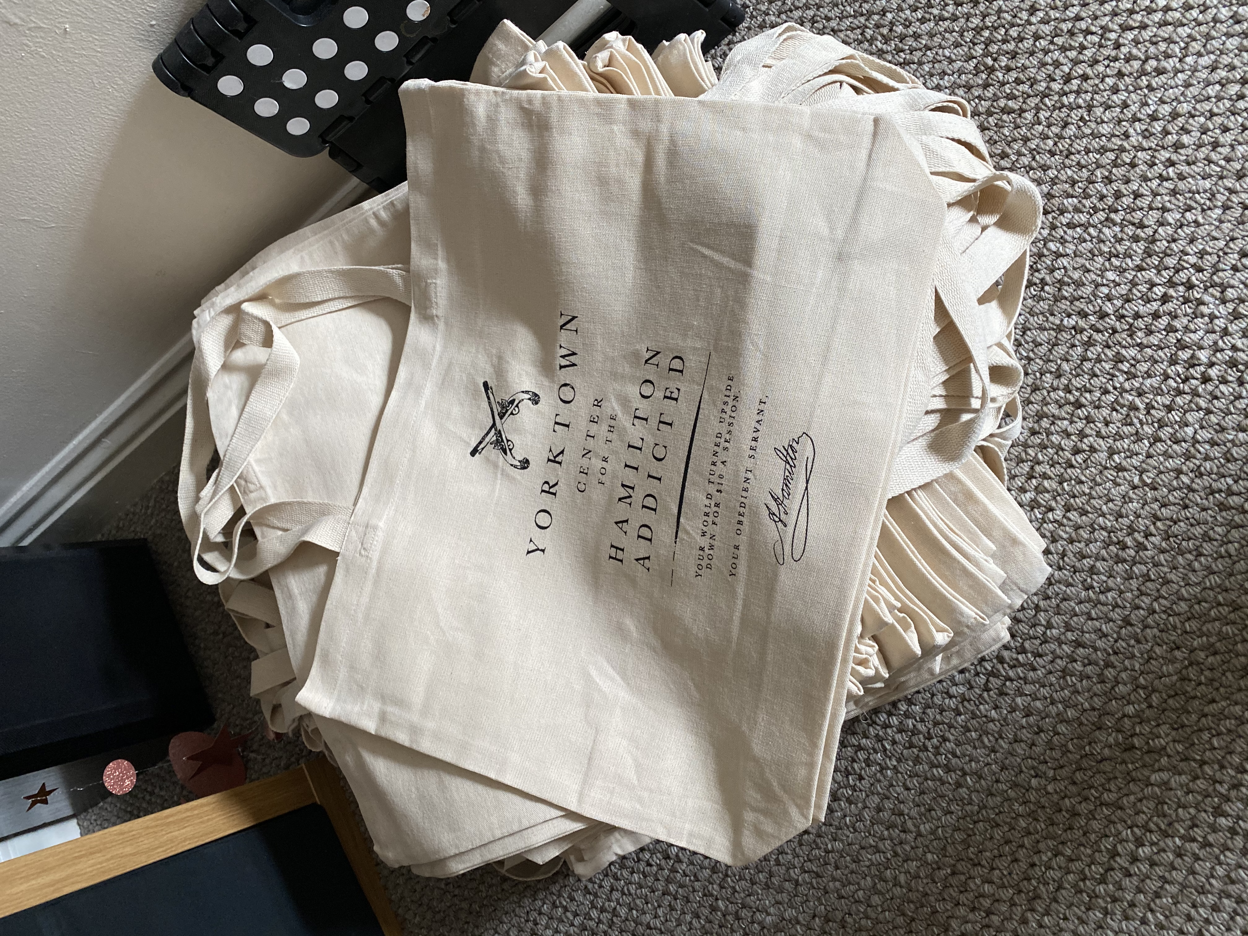 Name your own price on charity Hamilton tote bags