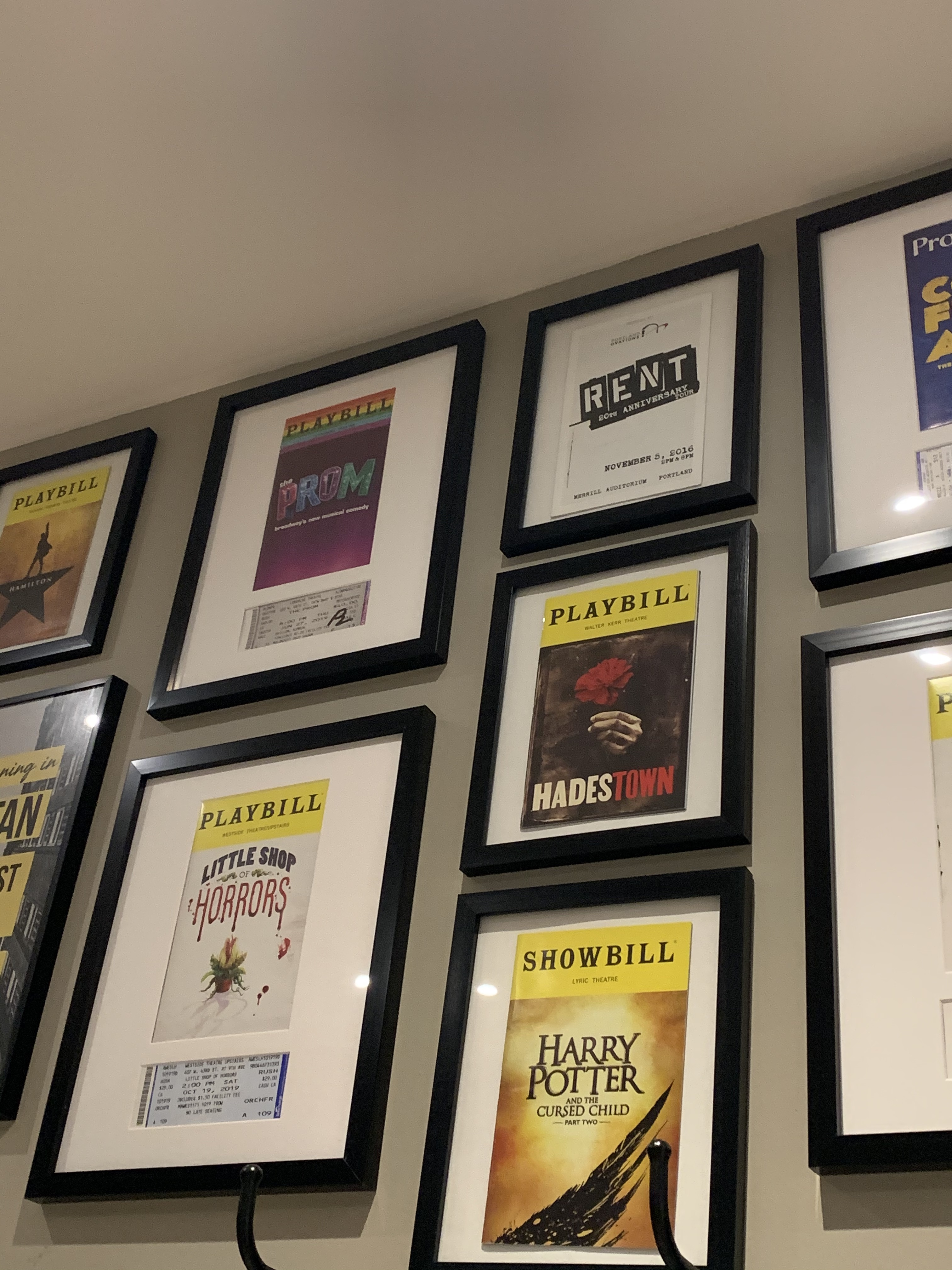 Selling Collection of Playbill Frames and Custom Cut Mats!