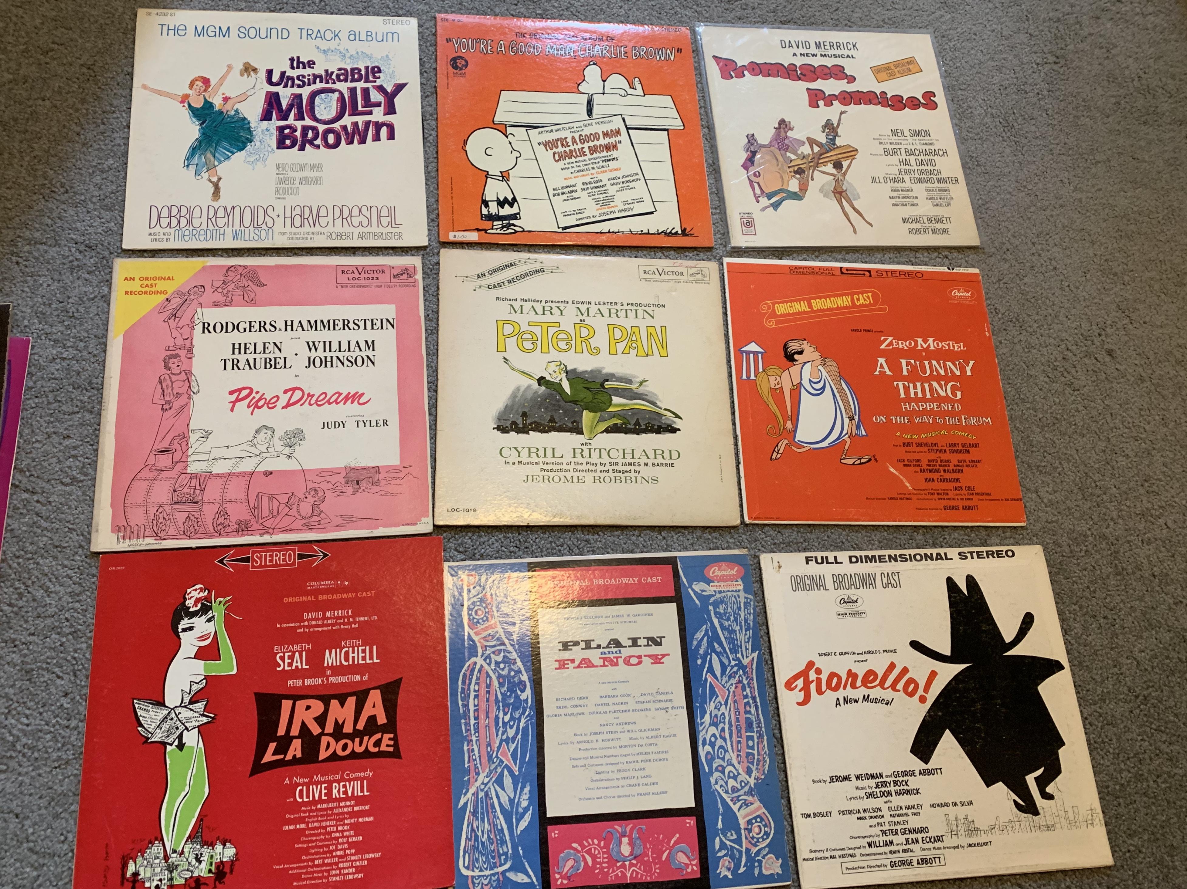 Broadway cast album collection