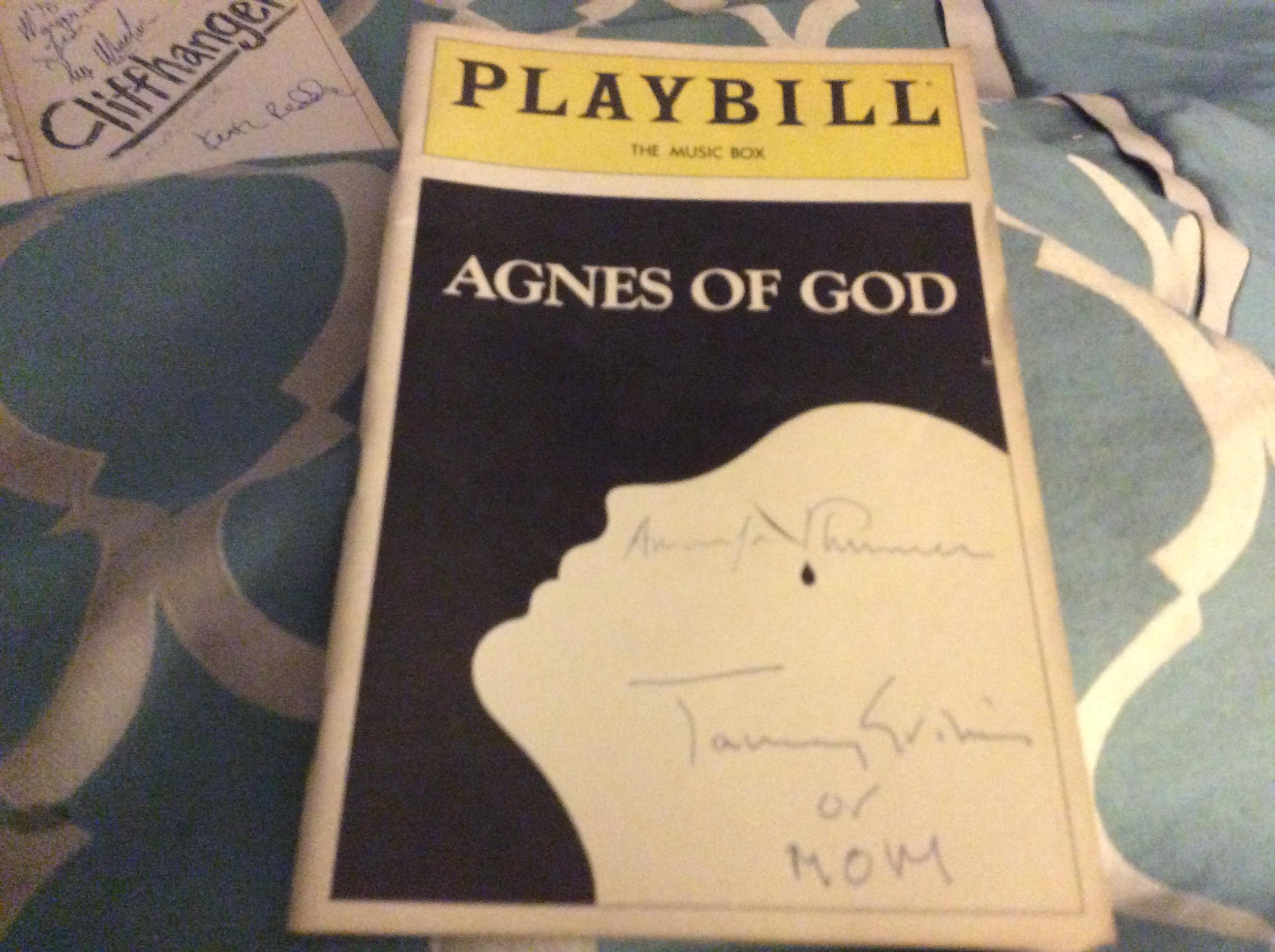 Agnes of God signed Playbill