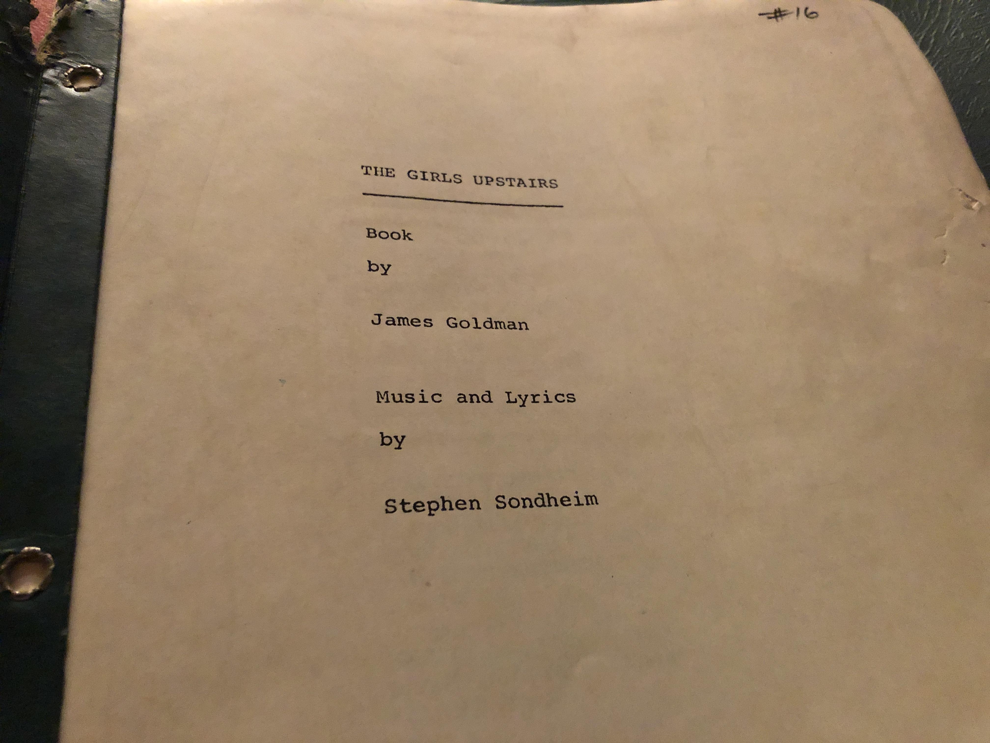 The Girls Upstairs 1968 Draft