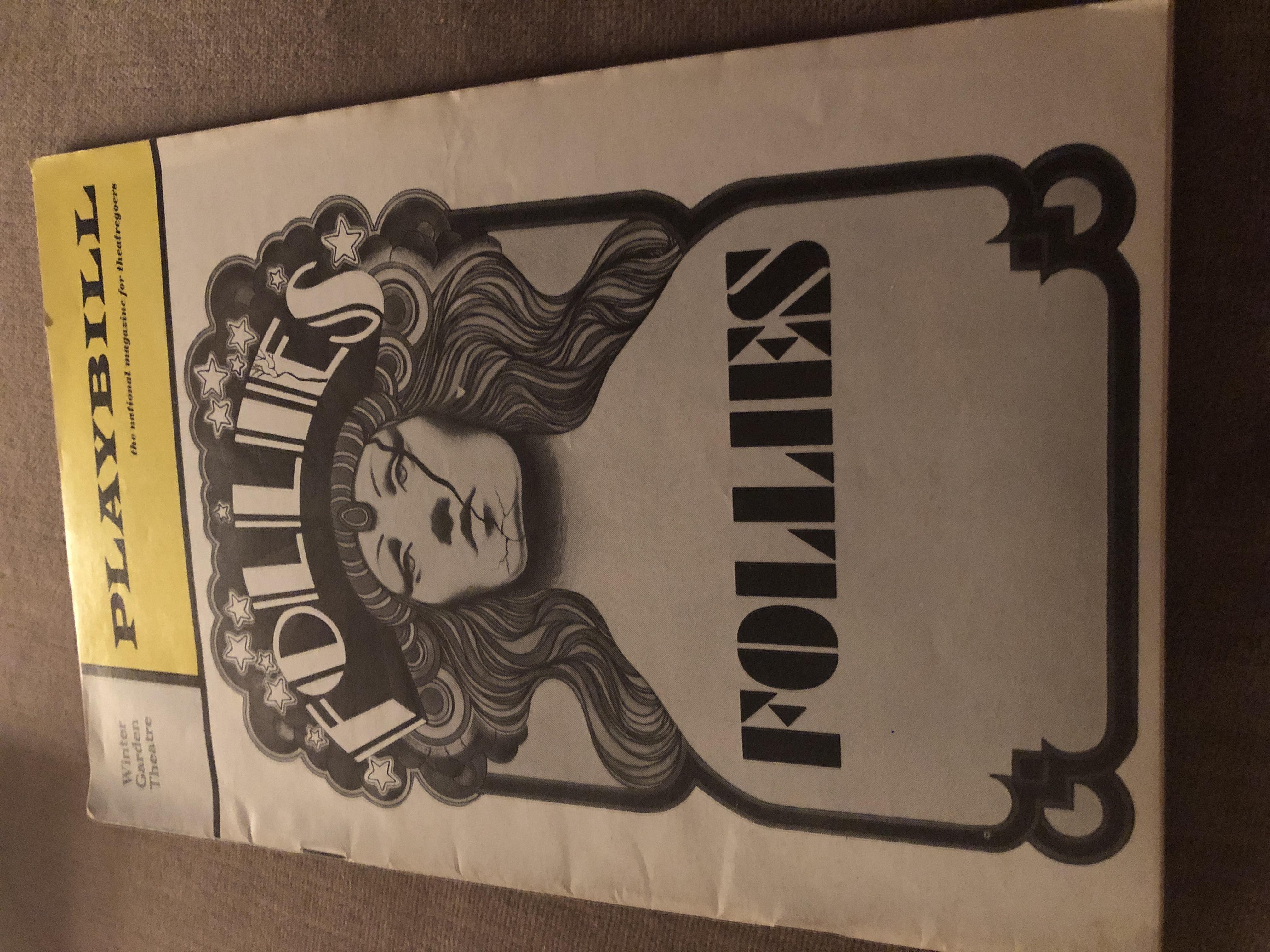Original Follies Playbill