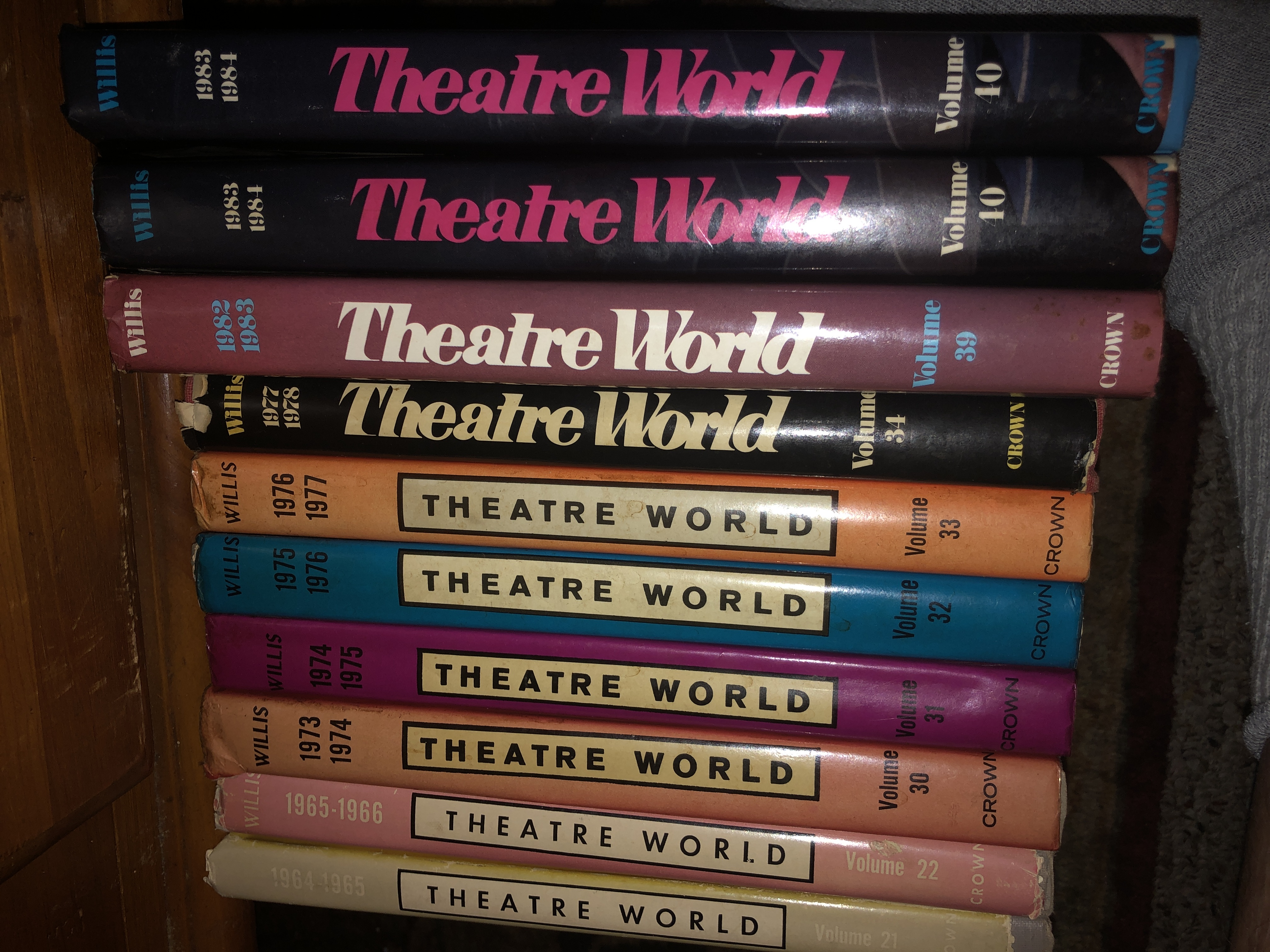 Theater World Books for Sale