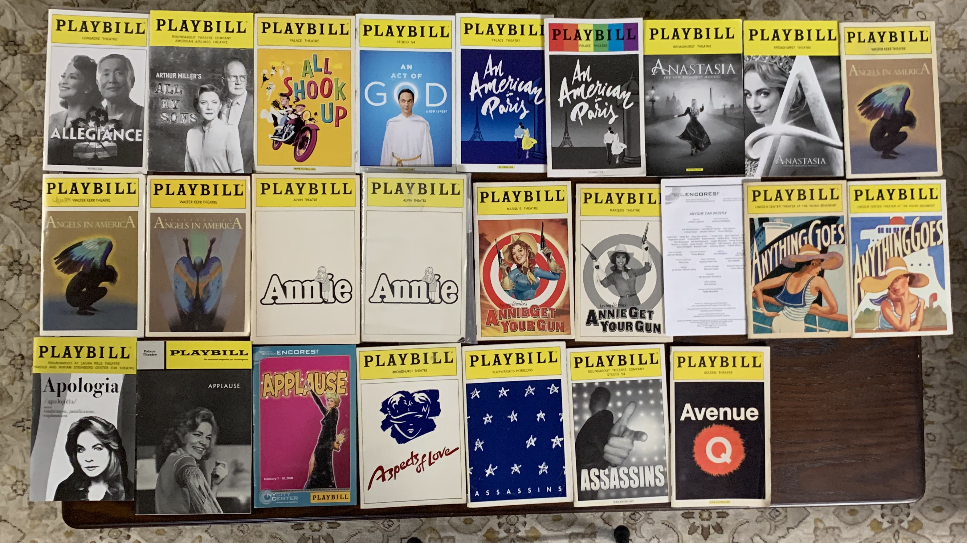 Playbills, Posters and More for Sell