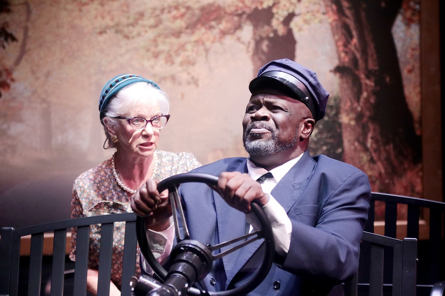 Miss Daisy is convinced Hoke doesn't know the way to the Piggly Wiggly in DRIVING MISS DAISY at COM Theatre - The Biggest Li'l Theatre In Texas!  *Pin Lim / Forest Photography* 1