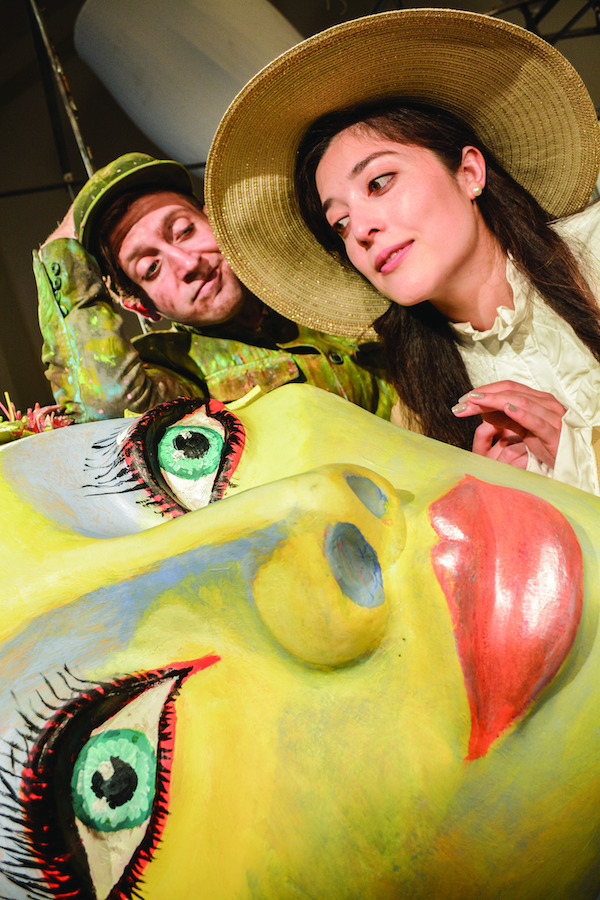 Sam Stoker (Jim Vadala), Lady Rose (Justine Davis), and The Good Fairy. Photo by Jerry Mouawad. 1