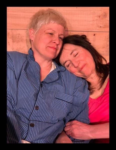 Body Awareness By Annie Baker, 2019 Pictured: Allie Rivenbark, Zero Feeney, Tamara Sorelli, and David Remple 2