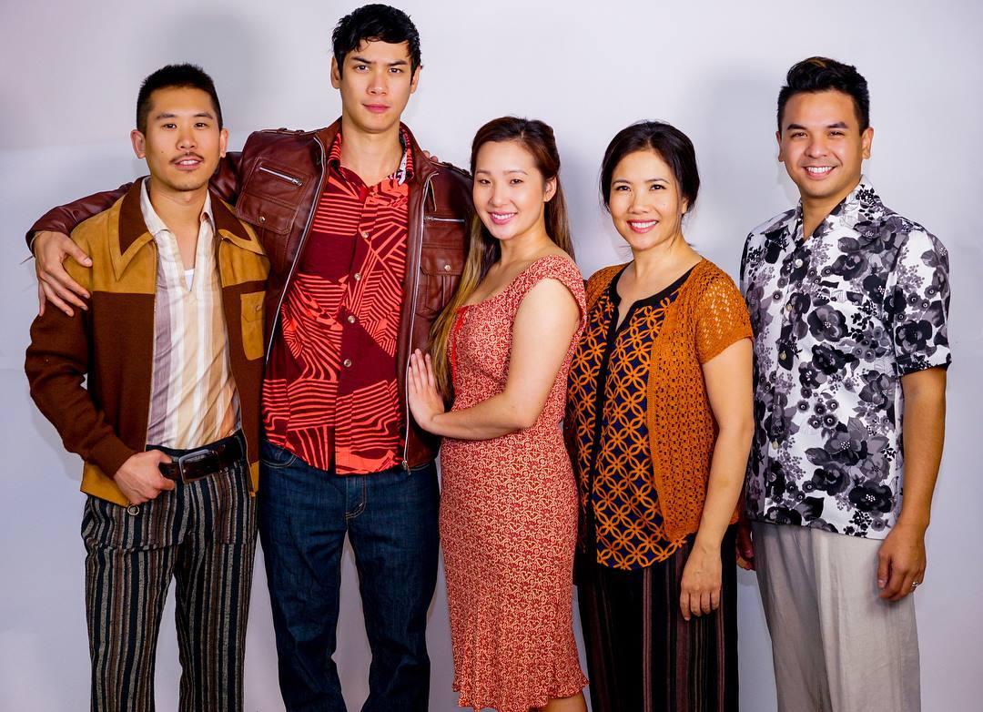 Cast: Lawrence Kao, Ben Levin, Katherine Ko, Emy Coligado, Shaun Tuazon - Vietgone San Diego Repertory Theatre - Photo by Daren Scott 1