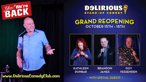 Delirious Comedy Club is the only full-time showroom in downtown Las Vegas with shows Wed-Sun at 9:00pm and special celebrity comedy series. 2