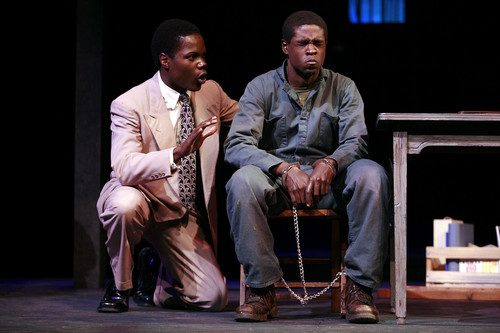 Stephen Tyrone Williams (left) and Jerrell Bowden (right) in Theatre Tuscaloosa's 2007 production of