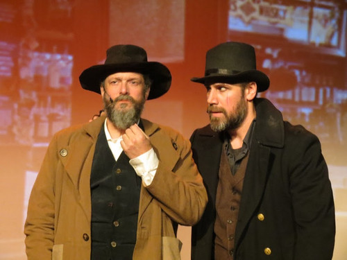 Sharing the title role: Liam McKernan and Andrew Loudon in Newtown Arts Company's Oliver! 3