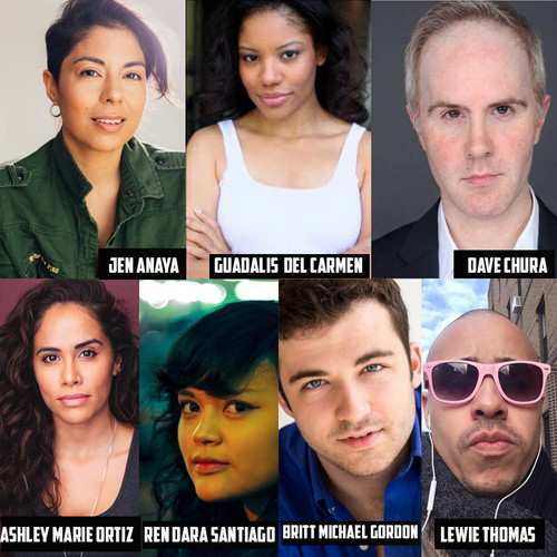 Ensemble cast of Nelson Diaz-Marcano's play - MISFIT AMERICA: AN AMERICAN WESTERN WITH COLOR. Directed by Blayze Teicher. 1