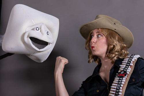 Mistress of Contraception takes on sperm! Photo Credit: Andrea Jones 1