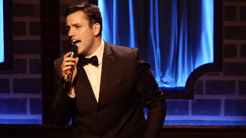 ?A Night With Frank & Judy? Thomas Finn with ?Elvis??(Kevin Finn) for the iconic mashup by Sinatra & Presley ?Witchcraft/Love Me Tender?. Finn Brothers on stage together again this Christmas for ?Christmas with Frank & Jusy? 2