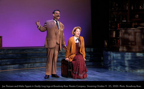 Malia Tippets and Joe Theissen in Daddy Long Legs at Broadway Rose Theatre Company. Streaming October 9 - 25, 2020. Photo: Broadway Rose. 3