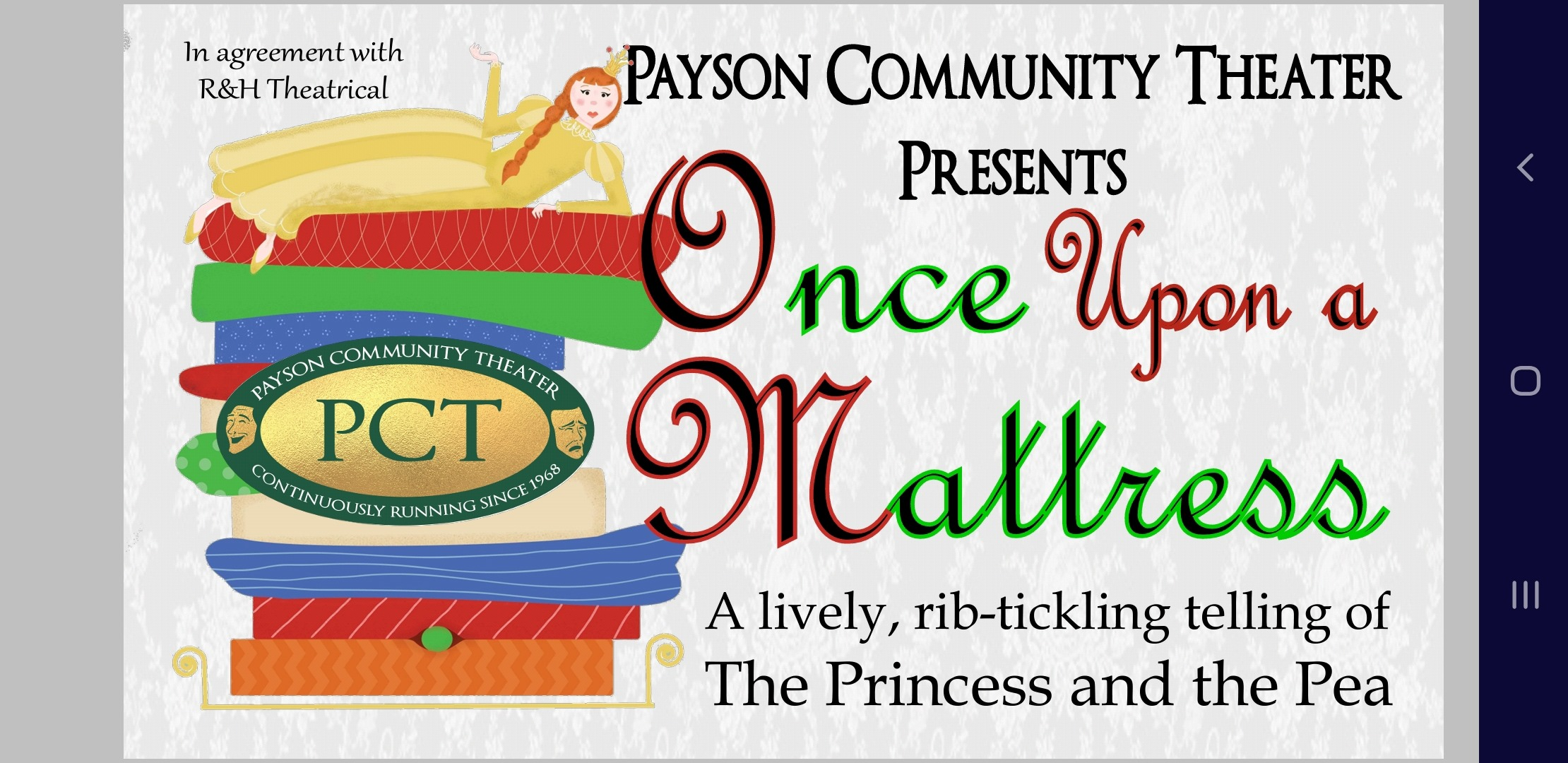 Once Upon a Mattress in Salt Lake City at Payson Community