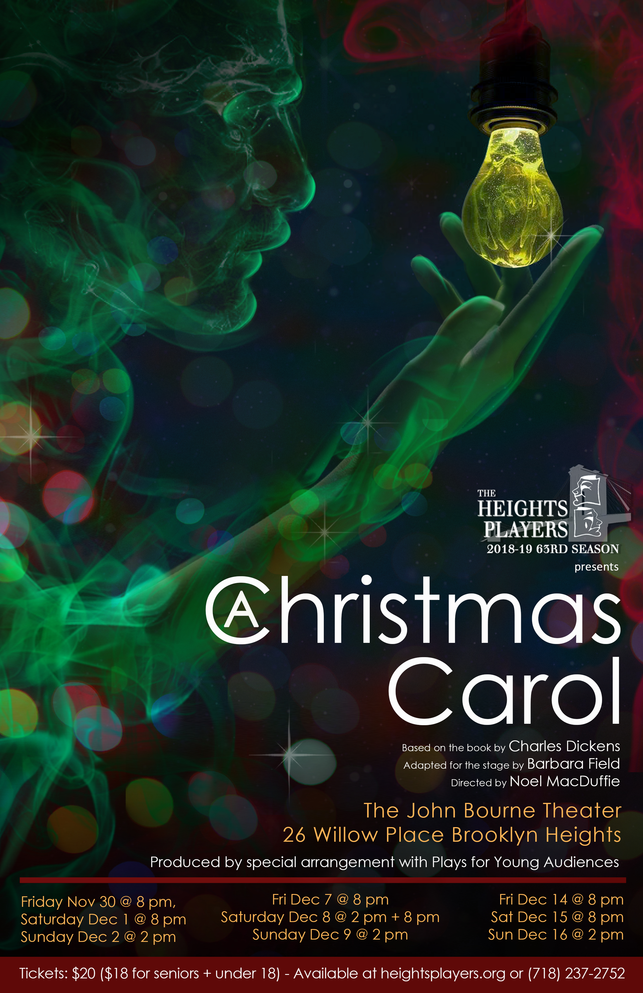 e94ebf22baa62 A Christmas Carol in Brooklyn at The Heights Players 2018
