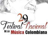 Gala launch 29 national Festival of Colombian music concert in Colombia