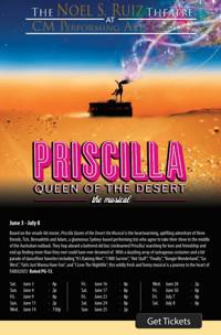 Priscilla Queen of the Desert the Musical at The Noel S. Ruiz Theatre in Broadway