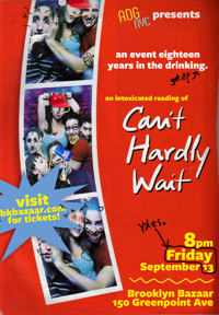 A Drinking Game NYC presents: CAN'T HARDLY WAIT in Brooklyn