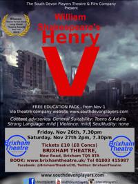 William Shakespeare's Henry V, at Brixham Theatre in UK Regional