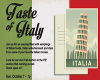 Taste of Italy at The Noel S. Ruiz Thetatre in Long Island