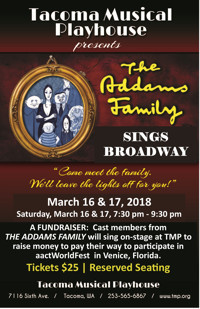 THE ADDAMS FAMILY SINGS BROADWAY - A Fundraiser in Seattle
