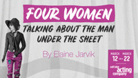 FOUR WOMEN TALKING ABOUT THE MAN UNDER THE SHEET in Salt Lake City
