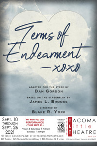 TERMS OF ENDEARMENT at Tacoma Little Theatre in Seattle