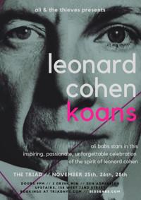 LEONARD COHEN KOANS in Off-Off-Broadway