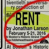 Jonathan Larson's Rent - 20th Anniversary Celebration in 2016! in Boston