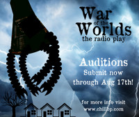 War of the Worlds, a radio play AUDITION NOTICE in Rockland / Westchester