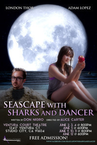 Seascape with Sharks and Dancer in Los Angeles