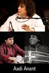 Aadi Anant:Zakir Hussain, Aditya Kalyanpur & Navin in India