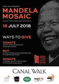 Mandela Mosaic at Canal Walk  in South Africa