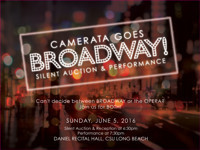 CAMERATA GOES BROADWAY: SILENT AUCTION & PERFORMANCE in Los Angeles