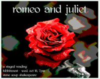 Romeo and Juliet (a staged reading) in Chicago