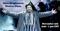 Alex Brightman Master Class in Central New York