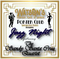 Watson's Speakeasy Night Featuring Jazz by the Sandy Santa Cruz Quartet in Boise Logo