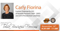 OSU Tulsa Business Forum with Carly Fiorina in Oklahoma