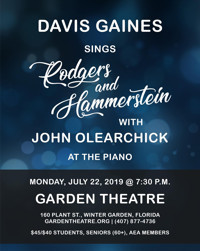 Davis Gaines sings Rodgers and Hammerstein, with John Olearchick at the Piano in Broadway
